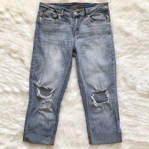 Rue 21 Capri distressed jeans size 11/12.